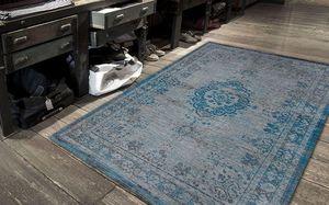 Louis De Poortere - grey turquoise 8255 - Tapis Contemporain