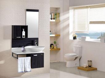 UsiRama.com - meuble salle de bain en bois massif mutuel 80cm - Meuble Vasque