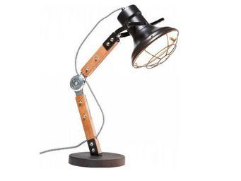 Kare Design - lampe de table rocky noir mat - Lampe De Bureau