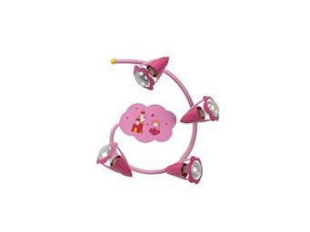 LUCIDE - plafonnier spirale enfant pinky - Luminaire Enfant