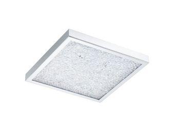 Eglo - plafonnier carré cardito led 47 cm chrome - Plafonnier