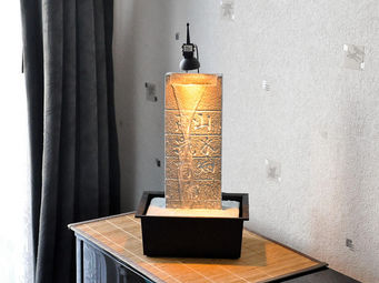 ZEN LIGHT - mur d'eau fontaine �clair�e amiti� - Fontaine D'int�rieur