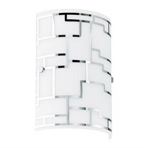 Eglo - bayman - applique verre blanc et argent h25cm   ap - Applique