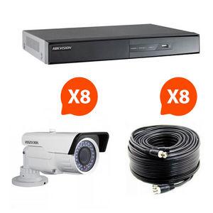 CFP SECURITE - videosurveillance - pack 8 caméras infrarouge kit  - Camera De Surveillance