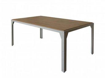 Delorm design - table repas 180cm en métal et bois - Table De Repas Rectangulaire