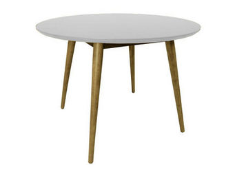 MyCreationDesign - lena blanc - Table De Repas Ronde