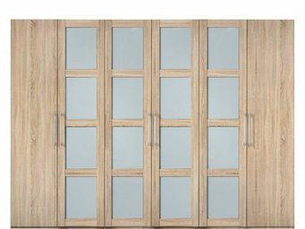WHITE LABEL - dressing penderie london six portes à battant coul - Armoire Dressing