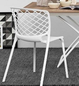 Calligaris - chaise empilable gamera de calligaris blanche - Chaise