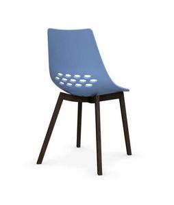 Calligaris - chaise jam w de calligaris bleu piétement frêne te - Chaise