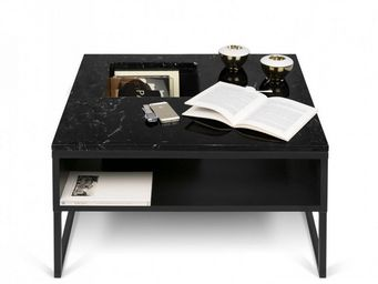 TemaHome - temahome table basse sigma en marbre noir - Table Basse Carrée