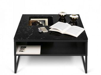 TemaHome - temahome table basse sigma en marbre noir - Table Basse Carr�e