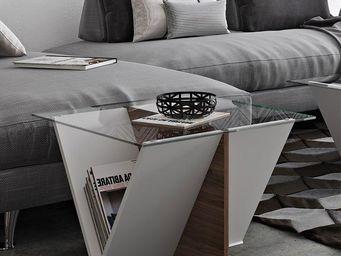 TemaHome - temahome table basse design walt 70*70 cm en verre - Table Basse Rectangulaire