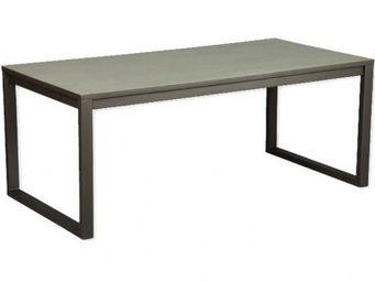 WHITE LABEL - table repas tv industry cérusé gris - Table De Repas Rectangulaire