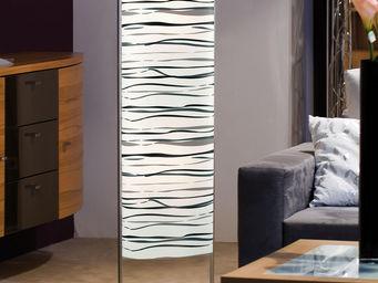 WHITE LABEL - lampadaire colonne design blanc et noir - Lampadaire