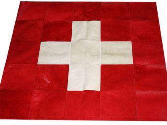 Tergus - tapis peau de vache suisse - Tapis Contemporain
