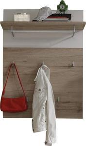 COMFORIUM - porte manteau mural coloris chêne san remo + blanc - Vestiaire