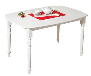 COMFORIUM - table de cuisine classique blanche - Table De Repas Rectangulaire