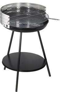 Dalper - barbecue à charbon rond en inox new clasic surface - Barbecue Au Charbon