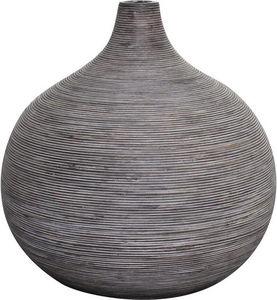 Aubry-Gaspard - vase boule en rotin gris taille 2 - Vase À Fleurs