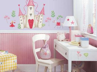 RoomMates - stickers château de princesse repositionnables 21  - Sticker Décor Adhésif Enfant