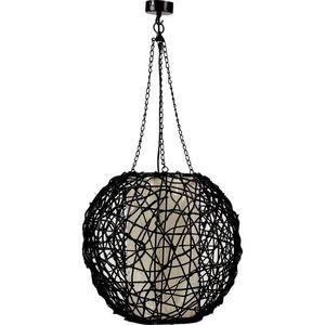Aubry-Gaspard - lampe boule rotin - Lampe À Poser