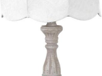Amadeus - lampe de chevet r�tro lin blanc - Lampe � Poser