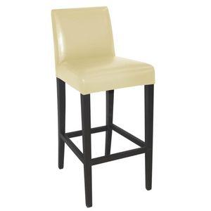 COMFORIUM - chaise haute en simili cuir de coloris crème - Chaise Haute De Bar