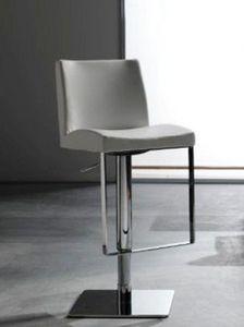 WHITE LABEL - chaise de bar maxim design blanche - Chaise Haute De Bar