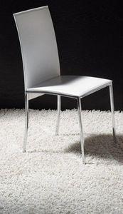 WHITE LABEL - chaises vanessa design blanc - Chaise