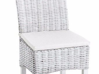 WHITE LABEL - chaise akoo en rotin tressé - Chaise