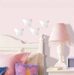 RoomMates - stickers miroirs papillons 4 éléments 12x14cm - Sticker Décor Adhésif Enfant