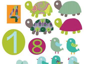Nouvelles Images - sticker mural chiffres animaux - Sticker Décor Adhésif Enfant