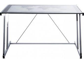 Kare Design - bureau en verre mondo 120x70 cm - Bureau