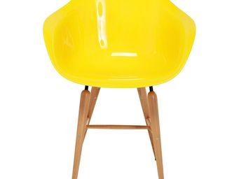 Kare Design - chaise avec accoudoirs forum jaune - Chaise