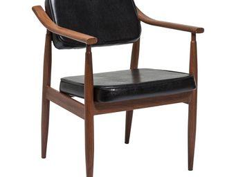 Kare Design - chaise avec accoudoirs karla noire - Chaise