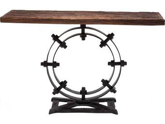 Kare Design - console en bois industrial ring 134 cm - Console
