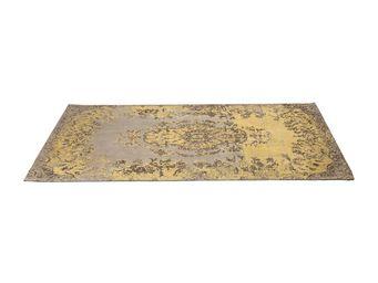 Kare Design - tapis carré kelim pop jaune 240x170 - Tapis Contemporain
