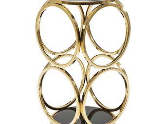 Kare Design - table d appoint circuit dorée ø32cm - Table D'appoint