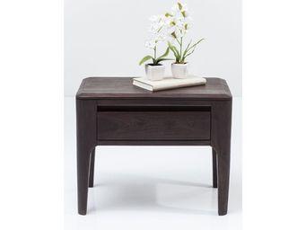 Kare Design - chevet brooklyn walnut 30x50 cm - Table De Chevet