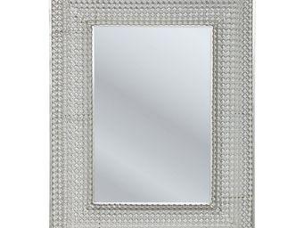 Kare Design - miroir silver pearls 90x70cm - Miroir