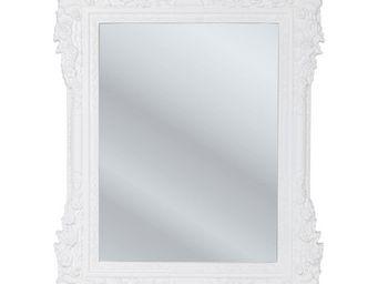 Kare Design - miroir fiore blanc 89x109cm - Miroir