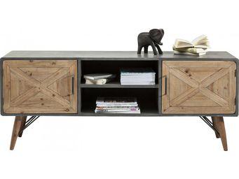 Kare Design - meuble tv x factory 2 portes - Meuble Tv Hi Fi