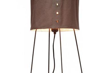 Kare Design - lampe de table rivet marron - Lampe À Poser