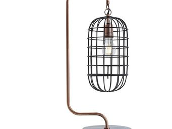 Kare Design - lampe de table golden cage roll - Lampe À Poser