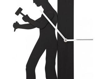 Kare Design - horloge working man noir - Horloge Murale