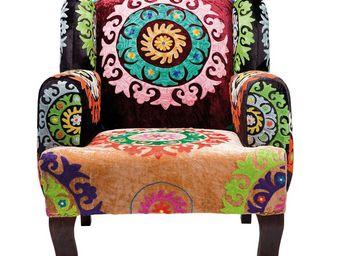 Kare Design - fauteuil design mandala - Fauteuil
