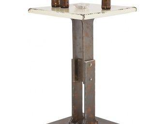 Kare Design - table bar key blanche 65x65 cm - Mange Debout