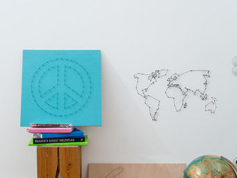 Donkey - string art we are the world - Décoration Murale
