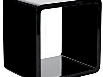 KOKOON DESIGN - cube en bois laqué noir pour rangement 45x35x45cm - Table D'appoint