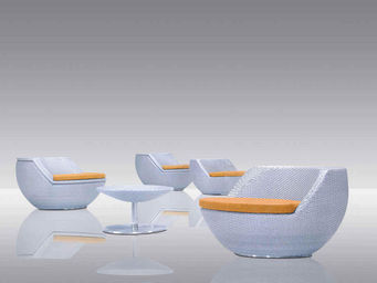 Aubry-Gaspard - salon de terrasse en polyrésine et aluminium boule - Salon De Jardin